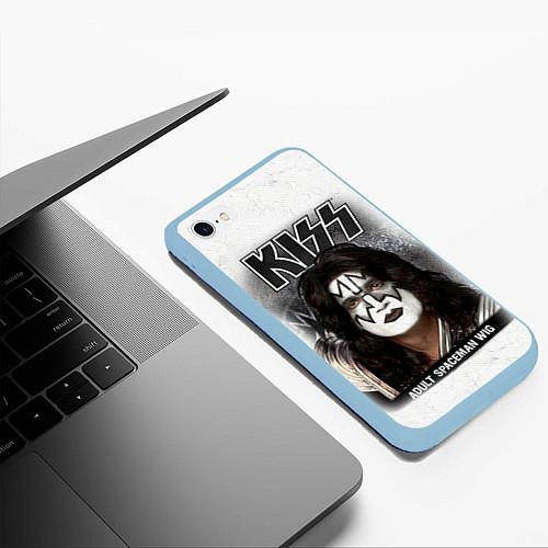 Чехол iPhone 6 Plus/6S Plus матовый KISS: Adult spaceman wig / 3D-Голубой – фото 3