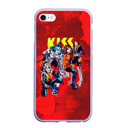 Чехол iPhone 6/6S Plus матовый KISS: Hot Blood цвета 3D-светло-сиреневый — фото 1