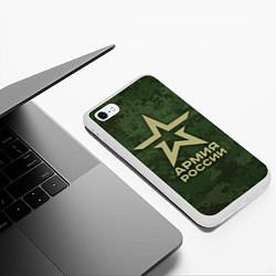 Чехол iPhone 6/6S Plus матовый Армия России цвета 3D-белый — фото 2