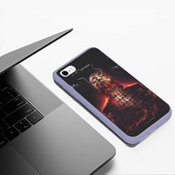Чехол iPhone 6/6S Plus матовый Oxxxymiron: Горгород цвета 3D-светло-сиреневый — фото 2