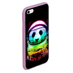 Чехол iPhone 6/6S Plus матовый Панда космонавт цвета 3D-розовый — фото 2