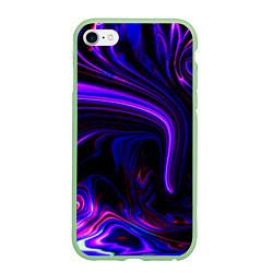 Чехол iPhone 6/6S Plus матовый Цветные разводы цвета 3D-салатовый — фото 1