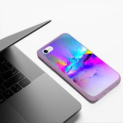 Чехол iPhone 6/6S Plus матовый Абстракция цвета 3D-сиреневый — фото 2
