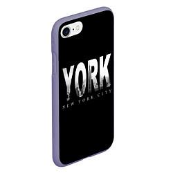 Чехол iPhone 7/8 матовый New York City цвета 3D-серый — фото 2