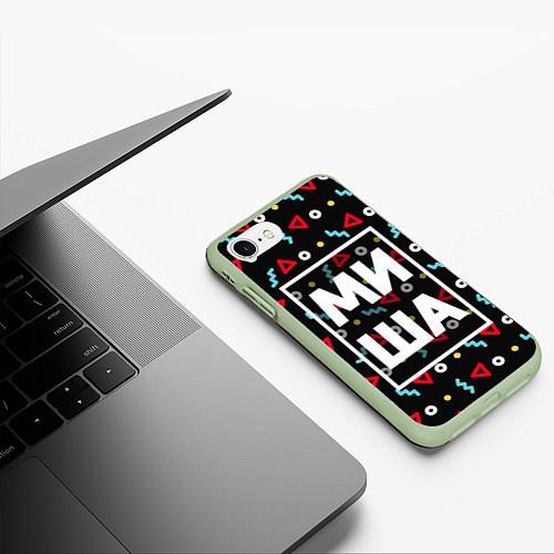 Чехол iPhone 7/8 матовый Миша / 3D-Салатовый – фото 3
