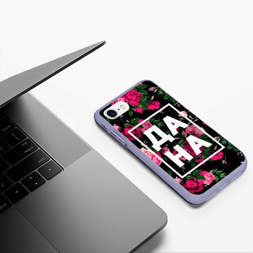 Чехол iPhone 7/8 матовый Дана / 3D-Светло-сиреневый – фото 3
