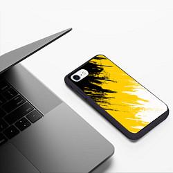 Чехол iPhone 7/8 матовый Имперский флаг России цвета 3D-черный — фото 2