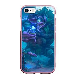 Чехол iPhone 7/8 матовый Ужас сада цвета 3D-розовый — фото 1