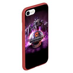 Чехол iPhone 7/8 матовый The International: Dota 2 цвета 3D-красный — фото 2