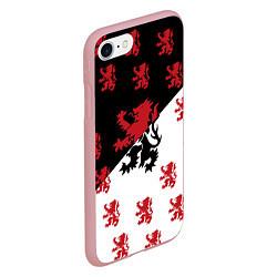 Чехол iPhone 7/8 матовый Лев герба Нидерландов цвета 3D-баблгам — фото 2