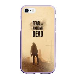 Чехол iPhone 7/8 матовый FtWD: Walking Zombie цвета 3D-светло-сиреневый — фото 1