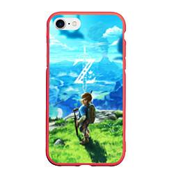 Чехол iPhone 7/8 матовый Z-Link цвета 3D-красный — фото 1