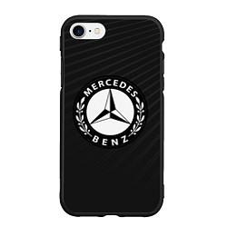 Чехол iPhone 7/8 матовый Mercedes-Benz цвета 3D-черный — фото 1