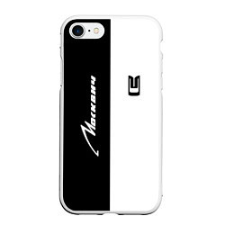 Чехол iPhone 7/8 матовый Москвич цвета 3D-белый — фото 1