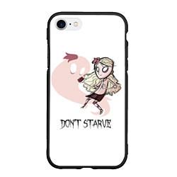 Чехол iPhone 7/8 матовый Don't Starve: Wendy цвета 3D-черный — фото 1