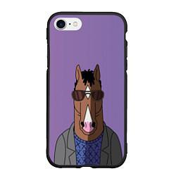 Чехол iPhone 7/8 матовый Конь БоДжек цвета 3D-черный — фото 1