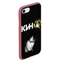 Чехол iPhone 7/8 матовый Цой цвета 3D-малиновый — фото 2