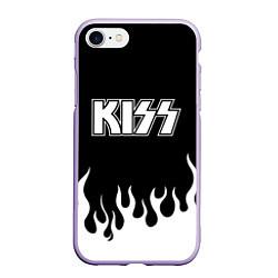Чехол iPhone 7/8 матовый Kiss цвета 3D-светло-сиреневый — фото 1