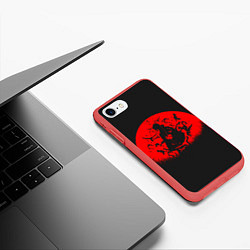 Чехол iPhone 7/8 матовый Учиха Итачи цвета 3D-красный — фото 2