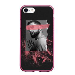 Чехол iPhone 7/8 матовый JONY цвета 3D-малиновый — фото 1