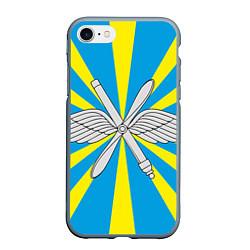 Чехол iPhone 7/8 матовый Флаг ВВС цвета 3D-серый — фото 1