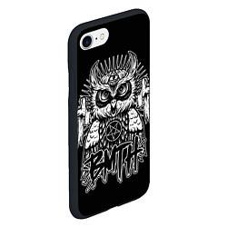 Чехол iPhone 7/8 матовый BMTH Owl цвета 3D-черный — фото 2