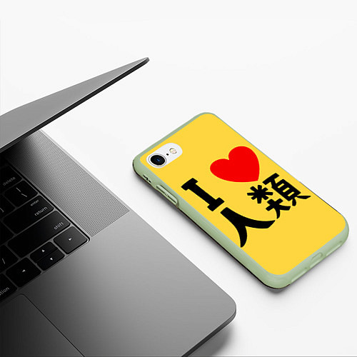 Чехол iPhone 7/8 матовый No game no life Sora / 3D-Салатовый – фото 3