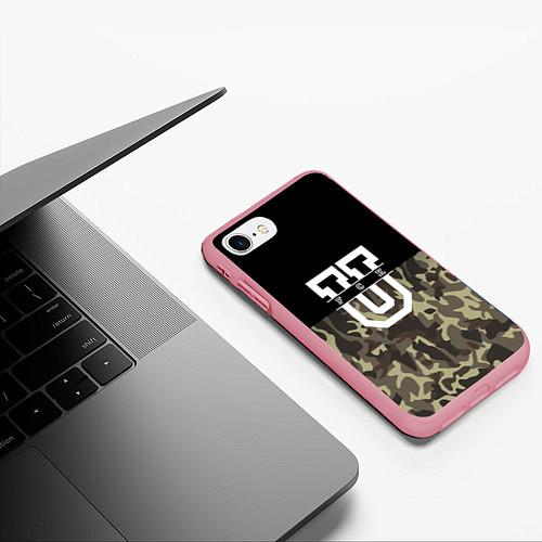 Чехол iPhone 7/8 матовый FCK U: Camo / 3D-Баблгам – фото 3