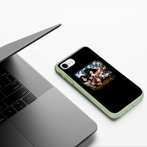 Чехол iPhone 7/8 матовый Kiss Monster / 3D-Салатовый – фото 3