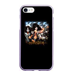 Чехол iPhone 7/8 матовый Kiss Monster цвета 3D-светло-сиреневый — фото 1