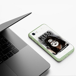 Чехол iPhone 7/8 матовый KISS: Adult spaceman wig цвета 3D-салатовый — фото 2