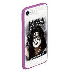 Чехол iPhone 7/8 матовый KISS: Adult spaceman wig цвета 3D-фиолетовый — фото 2