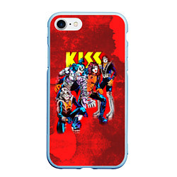 Чехол iPhone 7/8 матовый KISS: Hot Blood цвета 3D-голубой — фото 1