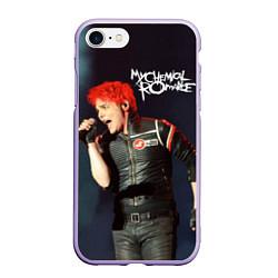 Чехол iPhone 7/8 матовый Gerard Way цвета 3D-светло-сиреневый — фото 1