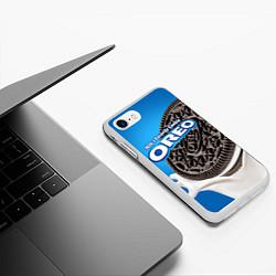 Чехол iPhone 7/8 матовый Oreo цвета 3D-белый — фото 2