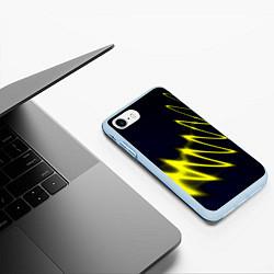 Чехол iPhone 7/8 матовый Молния цвета 3D-голубой — фото 2