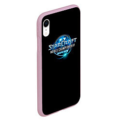 Чехол iPhone XR матовый StarC 1 цвета 3D-розовый — фото 2