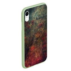 Чехол iPhone XR матовый Металлические краски цвета 3D-салатовый — фото 2