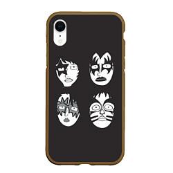 Чехол iPhone XR матовый KISS Mask цвета 3D-коричневый — фото 1