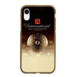 Чехол iPhone XR матовый The International Championships цвета 3D-коричневый — фото 1
