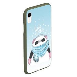 Чехол iPhone XR матовый Hate Winter цвета 3D-темно-зеленый — фото 2