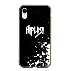 Чехол iPhone XR матовый Ария цвета 3D-темно-зеленый — фото 1