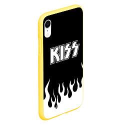 Чехол iPhone XR матовый Kiss цвета 3D-желтый — фото 2