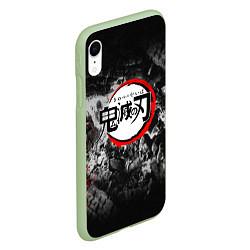 Чехол iPhone XR матовый KIMETSU NO YAIBA цвета 3D-салатовый — фото 2