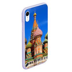Чехол iPhone XR матовый Храм Василия Блаженного цвета 3D-светло-сиреневый — фото 2