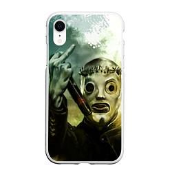 Чехол iPhone XR матовый Slipknot цвета 3D-белый — фото 1