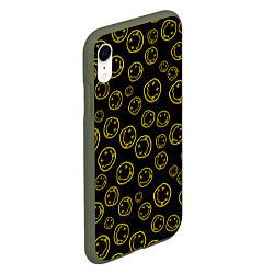 Чехол iPhone XR матовый Nirvana Pattern цвета 3D-темно-зеленый — фото 2