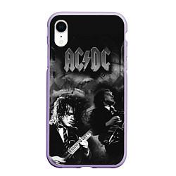 Чехол iPhone XR матовый AC/DC цвета 3D-светло-сиреневый — фото 1