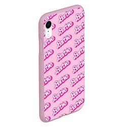 Чехол iPhone XR матовый Barbie Pattern цвета 3D-розовый — фото 2