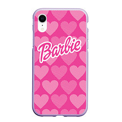 Чехол iPhone XR матовый Barbie цвета 3D-светло-сиреневый — фото 1